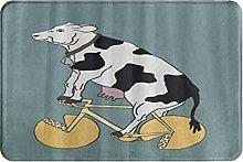 MOBEITI Anti-Slip Washable Soft Flannel Carpet,Cow