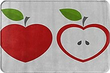 MOBEITI Anti-Slip Washable Soft Flannel Carpet,Red