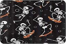 MOBEITI Anti-Slip Washable Soft Flannel