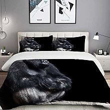 MOBEITI Bedding Duvet Cover set, Silver Animal