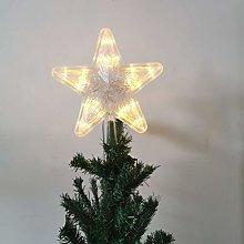 Mobestech 2 Pcs Christmas Star Treetop Glowing