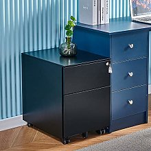 Mobile Black 2 Drawers File Storage Cabinet