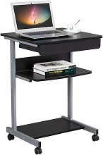 Mobile Computer Desk for Small Space, Laptop Table