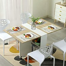 Mobile Kitchen Table Drop Leaf Foldable Extendable