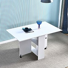 Mobile Kitchen Table Drop Leaf Foldable with