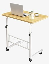 Mobile Laptop Table On Wheels, Adjustable Lap
