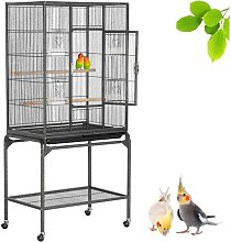 Mobile Large Parrot Cage w/Stand Bird Cage for