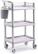 Mobile Medical Equipment Cart With Brake Wheel,