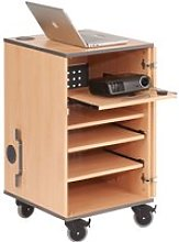 Mobile Multi-Media Centre, Beech, Free Standard