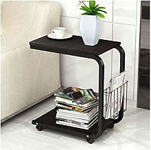 Mobile Sofa Side End Table Coffee Laptop Trolly