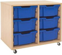 Mobile Tray Storage Unit With 6 Deep Gratnells