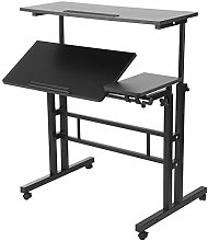 Mobile Vertical Simple Cheap Computer Desk with