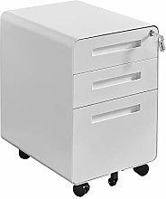 Mobile White File Cabinet Under Desk Pedestal