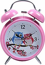 "MOBRAVO 4"" Twin Bell Alarm Clock Non Ticking"