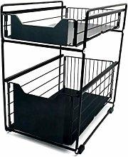 Mocosy 2 Tier Sliding Cabinet Basket Pull Out