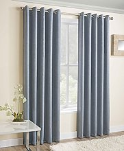 Moda, Lined Eyelet Curtains, Ring Top, Thermal
