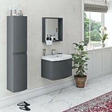 Mode Harrison slate gloss grey furniture package