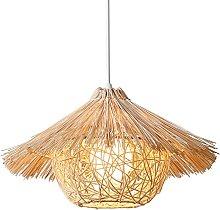 MODEBHD Woven Rattan DomeHanging Light,Bamboo