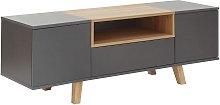 Modena 2 Door 1 Drawer TV Unit - Grey