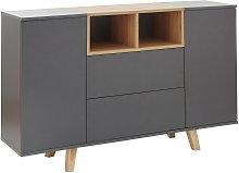 Modena 2 Door 2 Drawer Sideboard - Grey