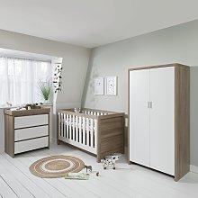 Modena 3 Piece Nursery Furniture Set - White Oak