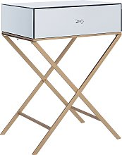Modern 1 Drawer Bedside Table Side Table Mirrored
