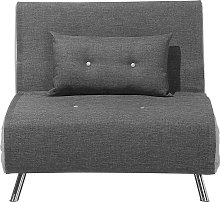 Modern 1 Seater Fabric Sofa Bed Single Guest Bed