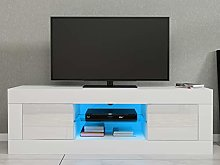 Modern 125cm TV Stand Unit Cabinet with LED Lights