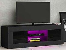 Modern 125cm TV Unit Cabinet Stand White High