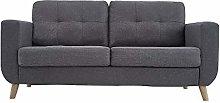 Modern 2 Seater Fabric Sofa Upholstered Settee