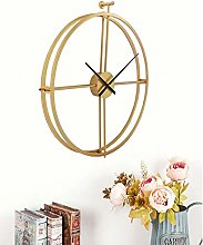 Modern 24 Inch Large Wall Clock,Round Metal Wall