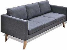 Modern 3-Seater Fabric Sofa Furniture Sets With