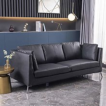 Modern 3 Seater Faux Leather Sofa Armchair Padded