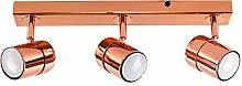 Modern 3 Way Copper Effect Straight Bar Ceiling