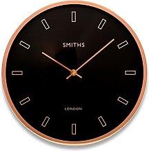 Modern 30cm Diameter Wall Clock - with Sleek Black