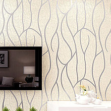 Modern 3D Wall Paper Silver Grey Striped Textured