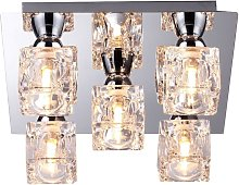Modern 5 Light Ice Cube Flush Ceiling Light with a