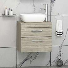 Modern 500mm Bathroom vanity Unit 2- Drawer Wall