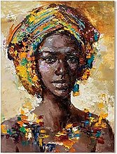 Modern Abstract Artwork African American Oil