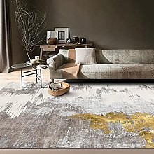 Modern Abstract Ink Living Room Rug, Simple