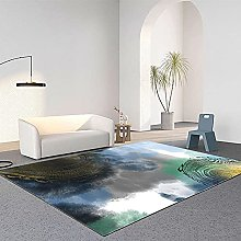 Modern Abstract Throw Rugs, Perfect Bedroom Rug,