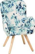 Modern Accent Chair Wooden Legs Multicolour