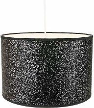 Modern and Designer Bright Black Glitter Fabric