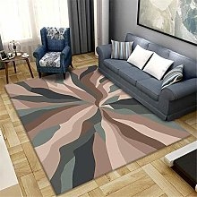 Modern Area carpet Large rug Brown cream abstract