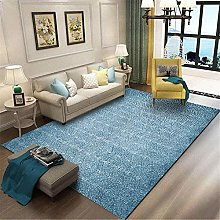Modern Area carpet Large rug Simple blue abstract