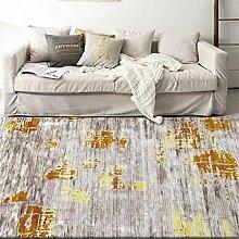 Modern Area Rug Designer Carpet Abstract golden