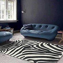 Modern Area Rug Designer Carpet Black and white