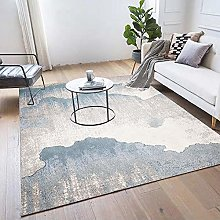 Modern Area Rug Designer Carpet Blue and gray
