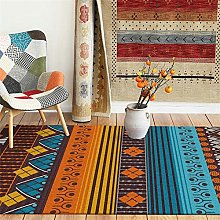 Modern Area Rug Designer Carpet Blue brown yellow