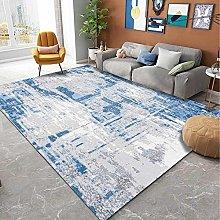 Modern Area Rug Designer Carpet Blue retro cement